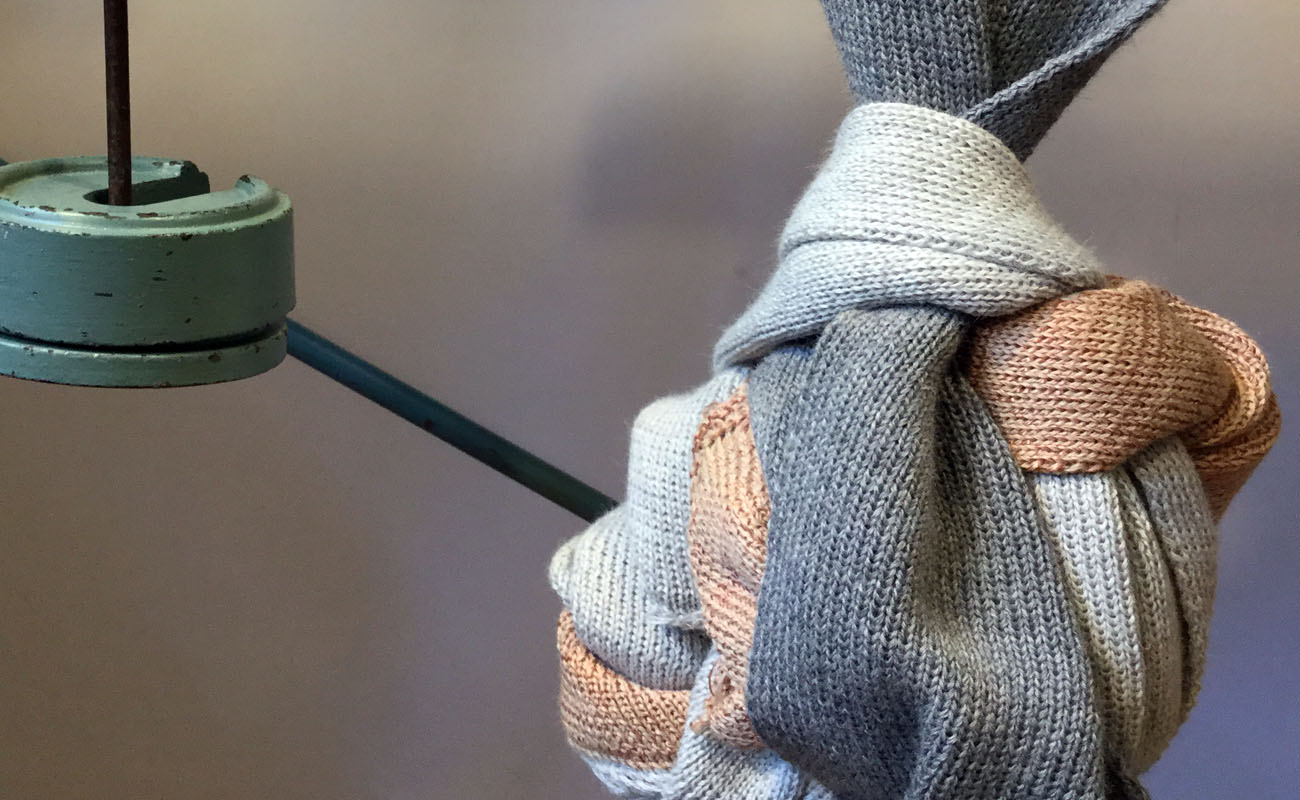 Wool and knitting in colors